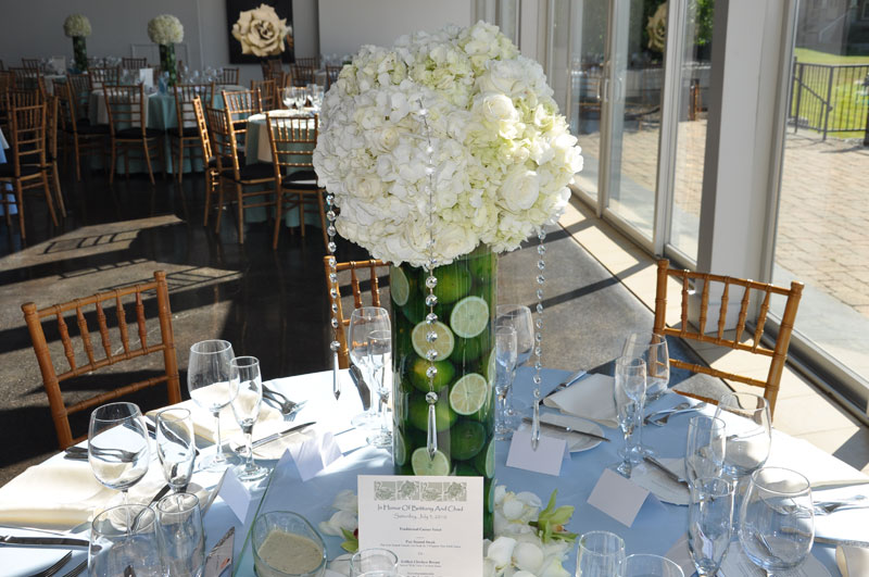 Miami wedding florist flowers floral designer Miami Dolphins NFL